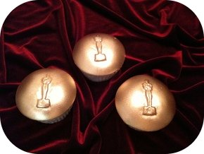 Academy Awards Oscar cupcake decorations