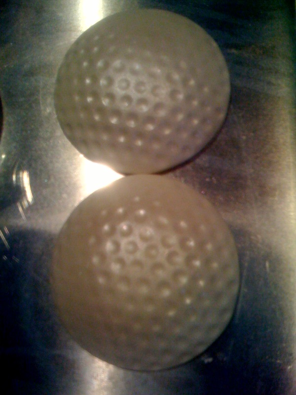 golf ball cupcake caps